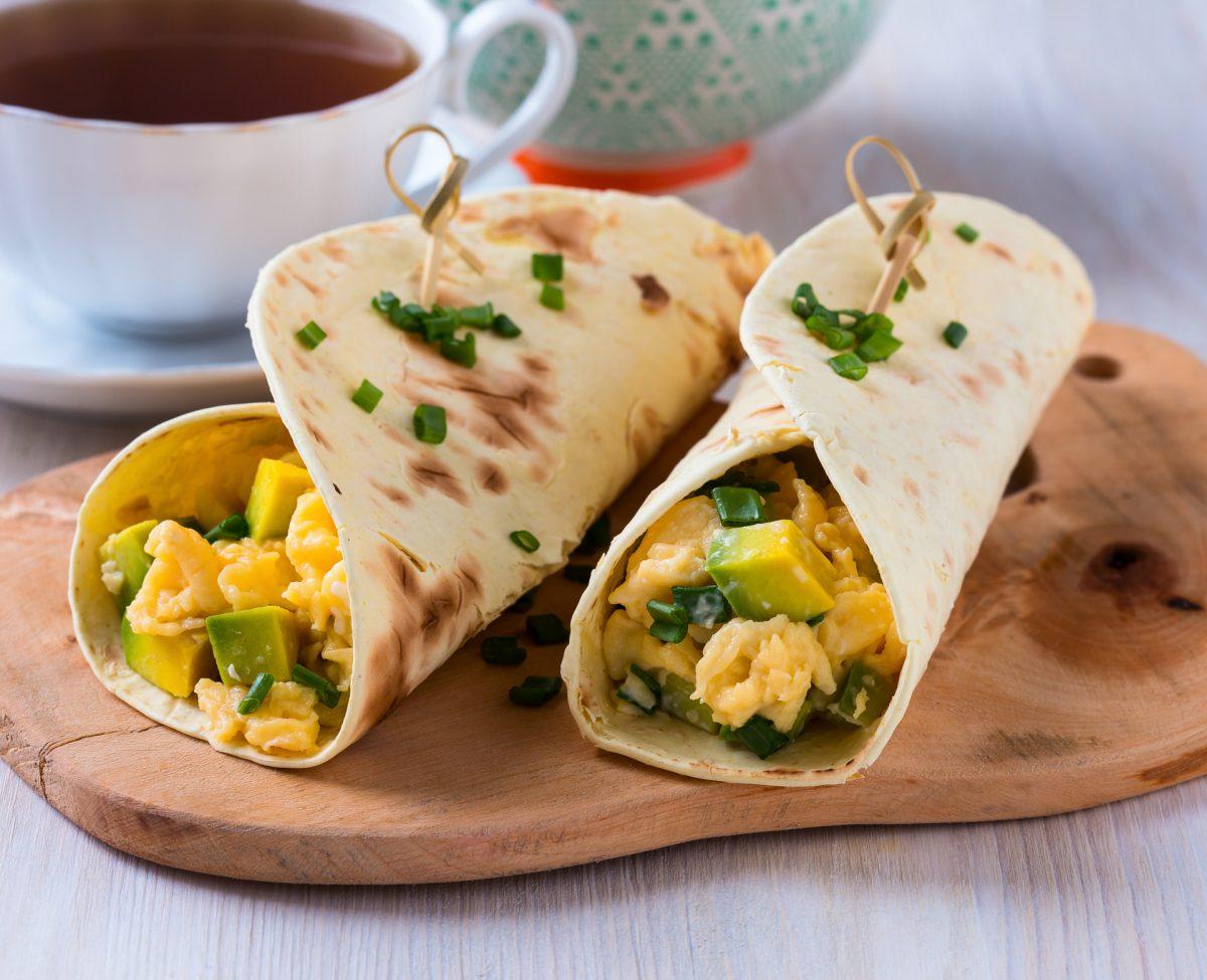 Идеален појадок за слабеење  Бурито со јајца и со зеленчук